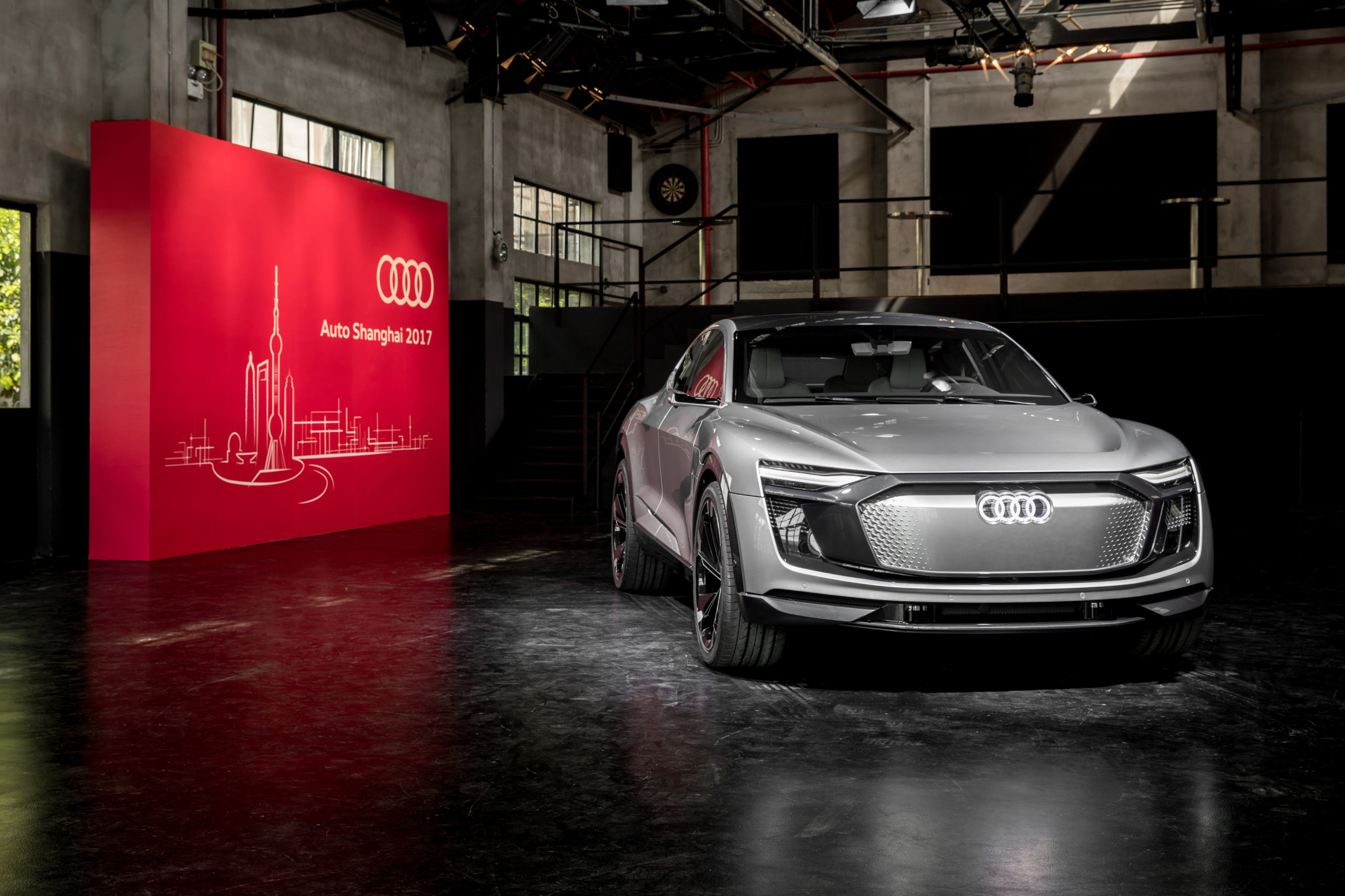 Photo of the Audi e-tron Sportback concept world premiere, Shanghai 2017.