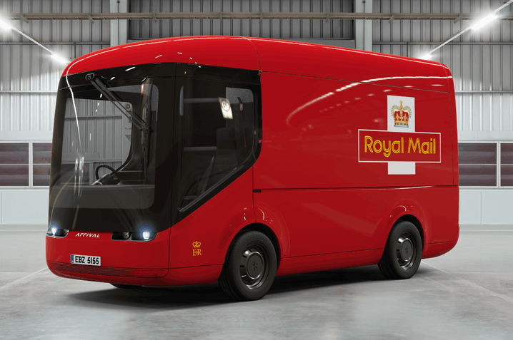 Photo of Arrival's Royal Mail electric delivery vehicle.