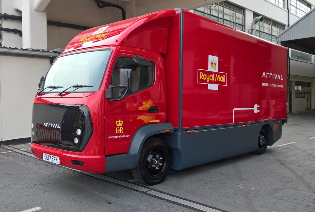 Photo of Royal Mail's electric delivery vehicle manufactured by Arrival.