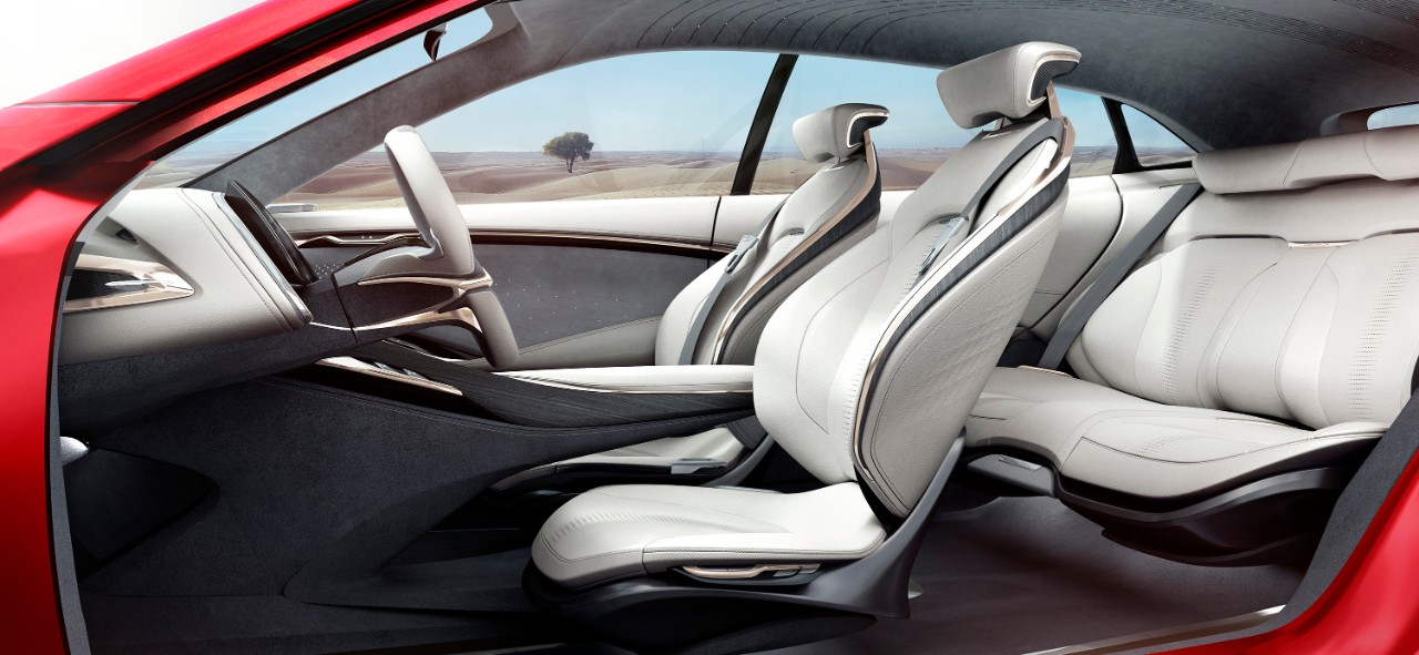 Buick Enspire all-electric concept SUV seats.