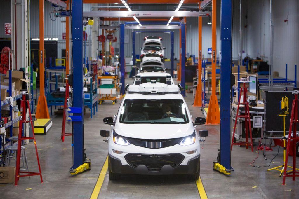 Photo of Chevy Autonomous Bolt EV Assembly Line.