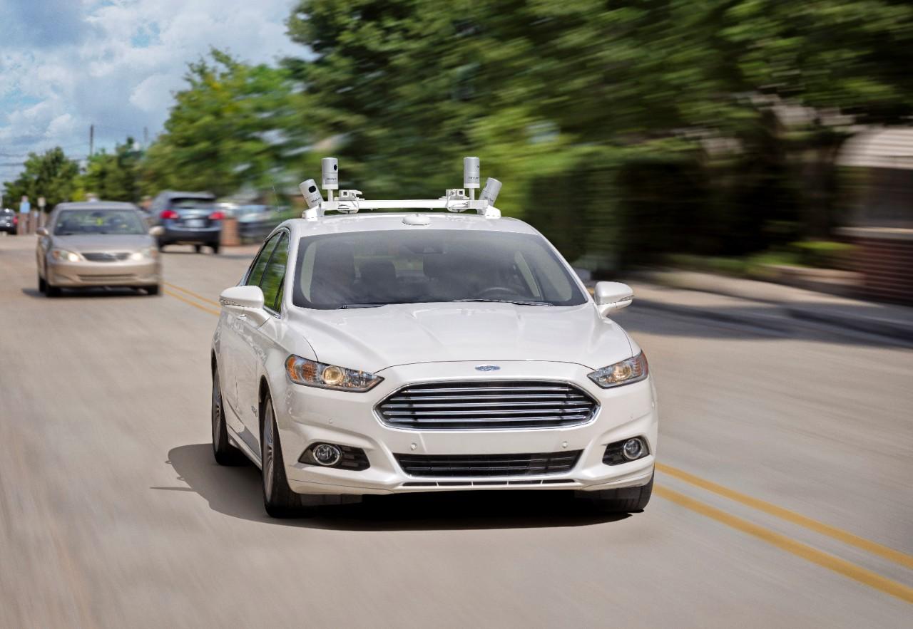 Photo of Ford Fusion Hybrid Autonomous Vehicle (All photos © Ford)