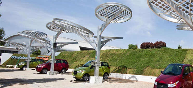 Photo of Mahindra EV Solar Charger