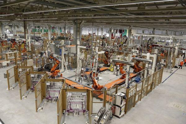 Photo of i3 production at BMW's Leipzig plant.