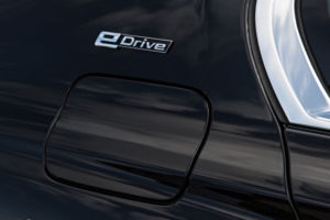 BMW eDrive charge port cover. © BMW AG