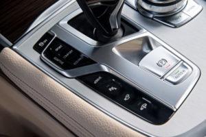 Photo of BMW 740e xDrive iPerformance eDrive Button. © BMW AG