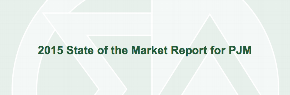PJM IMM State of the Market 2015
