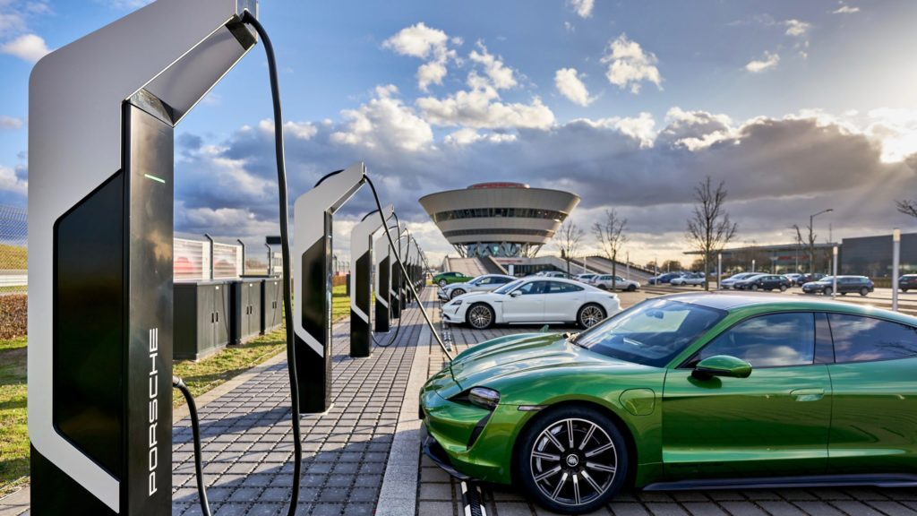 Photo of Porsche Turbo Charging, Rapid-charging park, Leipzig, 2020.