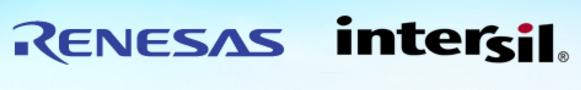 Renesas and Intersil logos