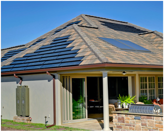 Picture of residential rooftop solar panels.
