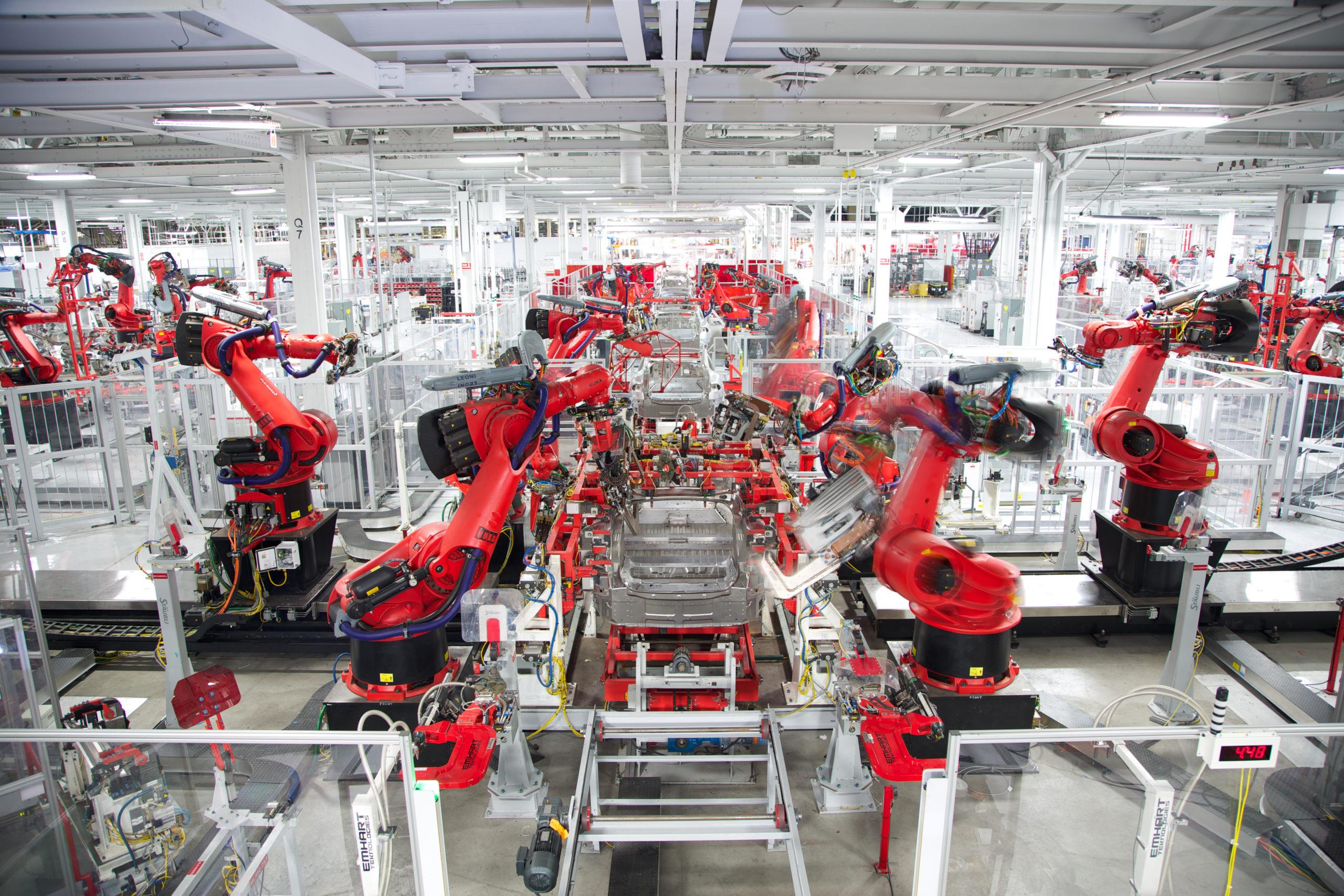 Photo of Tesla Assembly Line