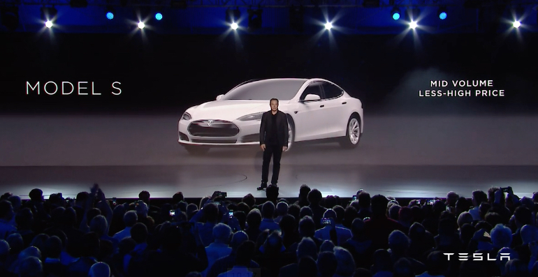Tesla Model S at Model 3 Unveiling