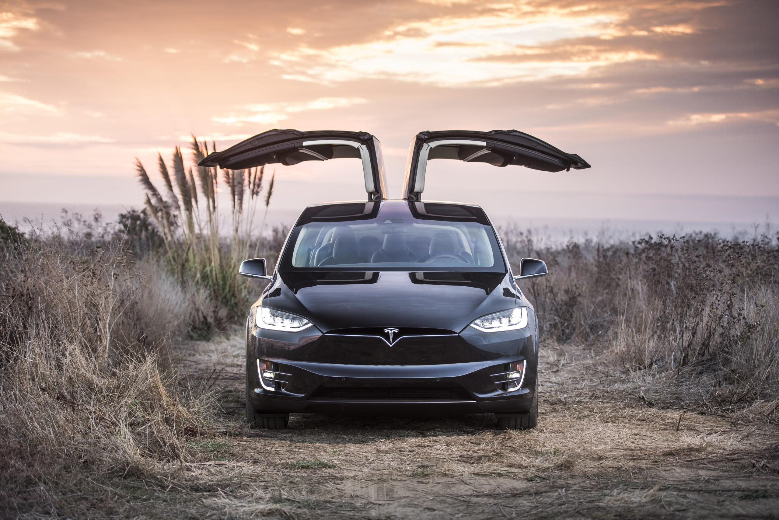 Tesla Model X - Front View Doors Up