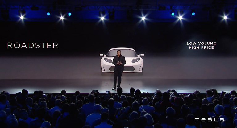 Tesla Roadster at Model 3 Unveiling