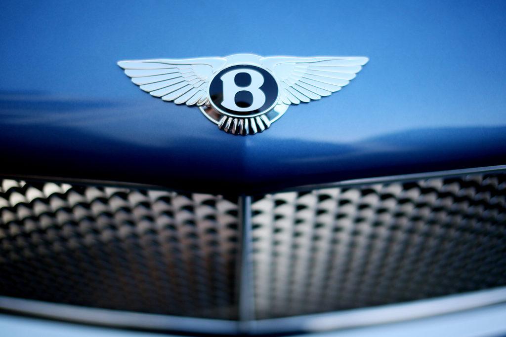 Photo of Bentley logo.