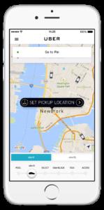 Uber NY Request Screenshot