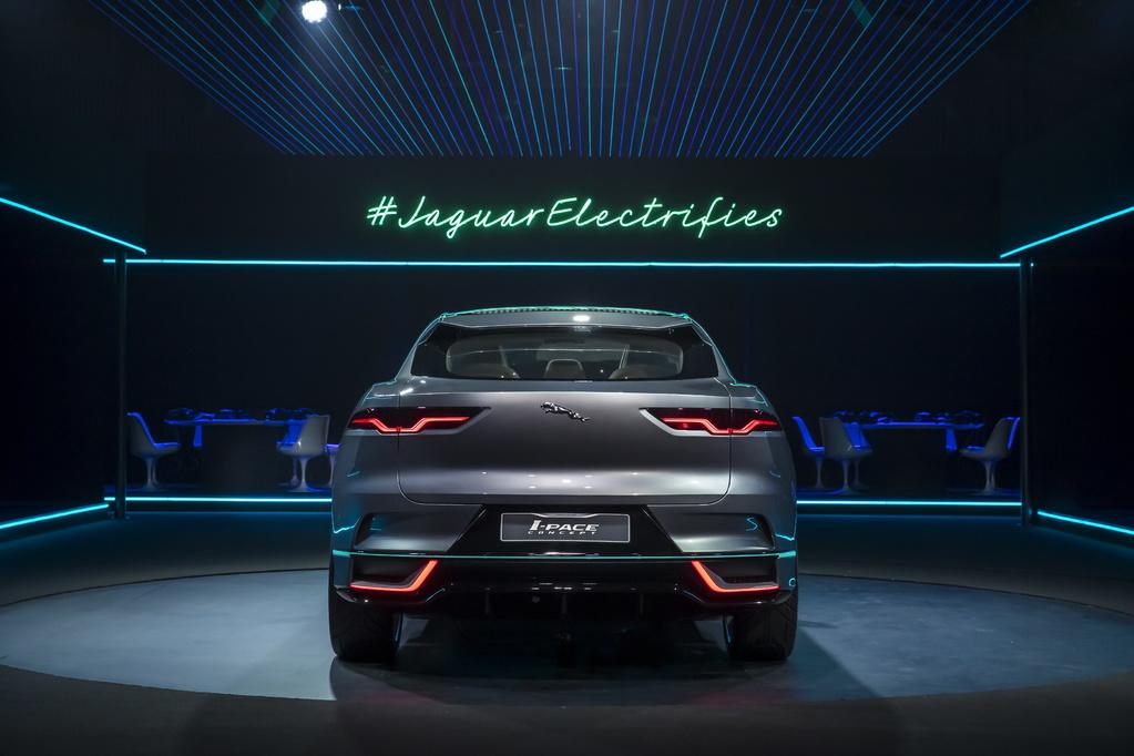 Photo of rear of Jaguar I-Pace Concept